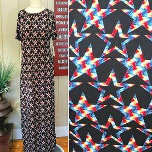 NEW | LulaRoe | XS Maria star print maxi dress